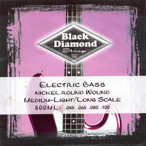 Black Diamond - Nickel 500ML Round Wound 45-100 Gauge Bass Strings