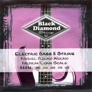 Black Diamond - Nickel 550M Round Wound 45-125 Gauge Bass 5 Strings